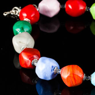 Murano Bead Necklace 19