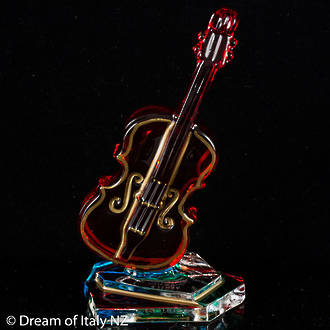 Italian Crystal Double Bass Ornament