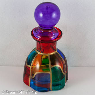 Italian Crystal Hand Painted Bottle 2