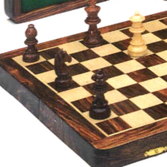 Wooden Folding Magnetic Chess Set 350x350