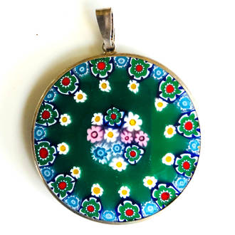 Murano Glass Pendant Millefiori 32mm 8