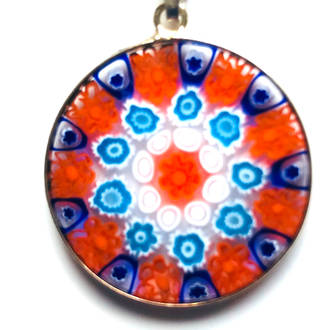Murano Glass Pendant Millefiori 26mm 5