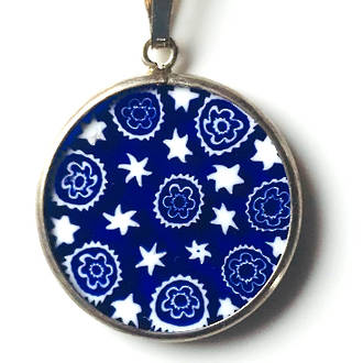 Murano Glass Pendant Millefiori 18mm 4