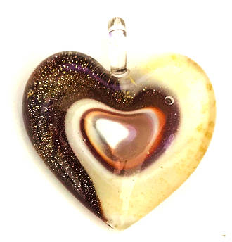 Murano Glass Heart Pendant 4