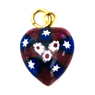 Murano Glass Pendant Millefiori Heart 10mm 3