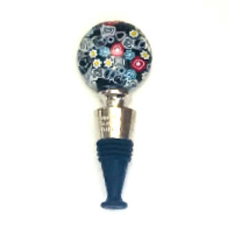 Murano Glass Millefiori Bottle Stopper 2