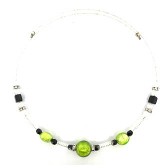 Murano Glass Bead choker - Green