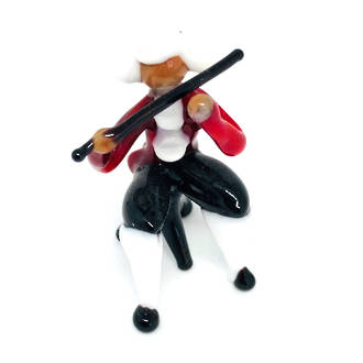 Murano Glass Musician Ornament Flute Player