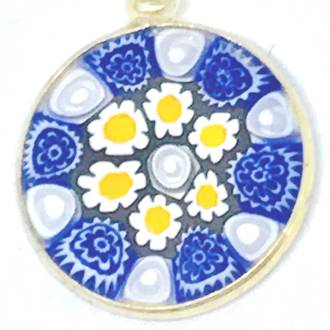 Murano Glass Pendant Millefiori 18mm 2