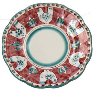 Hand-Painted Ceramics Gallinelle Side Plate Red