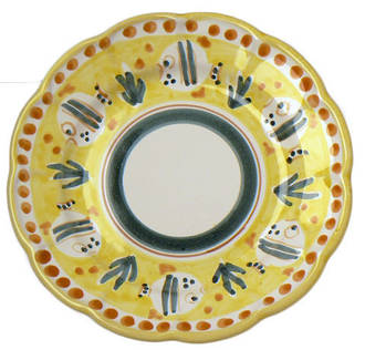 Hand-Painted Ceramics Pesce Side Plate Yellow