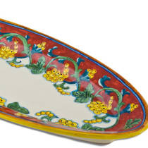 Hand-Painted Ceramics Corallo Fish Platter
