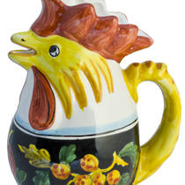 Hand-Painted Ceramics Zafiro Rooster Jug Medium/Large