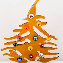 Murano Glass Christmas Trees Medium