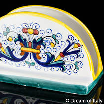 Italian Ceramic Ricco Deruta Napkin Holder