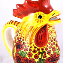 Hand-Painted Ceramics Papaveri Rooster Jug Small/Medium/Large
