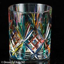 Painted Crystal Water Glass