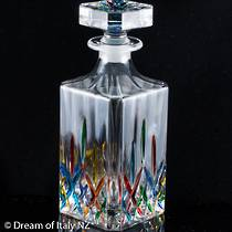 Crystal Decanter  Hand Painted