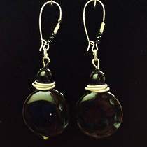 Murano Glass Pastello Earrings - Black