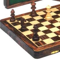 Wooden Folding Magnetic Chess-Checkers Set 300 x 300