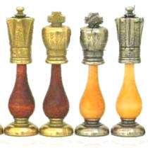 Chess Pieces - metal/wood - King 102mm