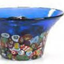 Murano Glass Bowl with Millefiori Beads 135mm diameter