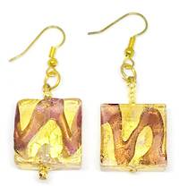 Murano Glass Bead Earrings Desdemona A