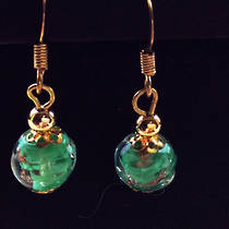 Murano Glass Corintia Earrings - Pale Green