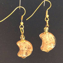 Murano Glass Gioconda Earrings - Rose Gold