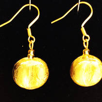 Murano Glass Elena Earrings - Gold