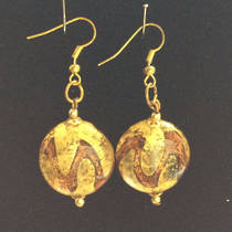 Murano Glass Bead Earrings Desdemona C