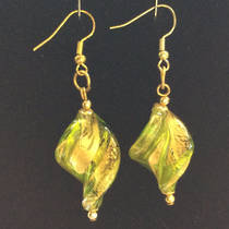 Murano Glass Bead Earrings Desdemona E
