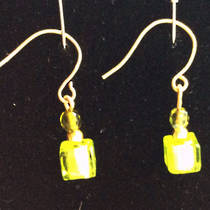 Murano Glass Sara Bead Earrings - green