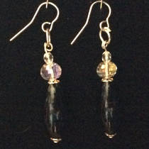 Murano Glass Earrings - Black Elegance (Oval)