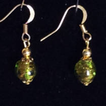 Murano Glass Corintia Earrings - Clear Green
