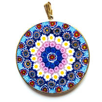 Murano Glass Pendant Millefiori 36mm 8