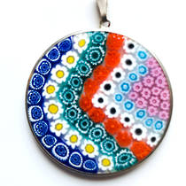 Murano Glass Pendant Millefiori 36mm 5