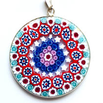 Murano Glass Pendant Millefiori 36mm 2
