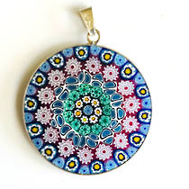 Murano Glass Pendant Millefiori 32mm 6