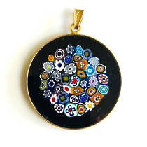 Murano Glass Pendant Millefiori 32mm 10