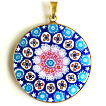 Murano Glass Pendant Millefiori 32mm 1
