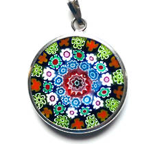Murano Glass Pendant Millefiori 26mm 2