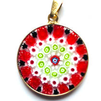 Murano Glass Pendant Millefiori 23mm 2