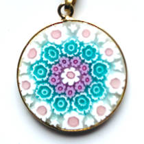 Murano Glass Pendant Millefiori 23mm 12