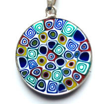 Murano Glass Pendant Millefiori 23mm 17