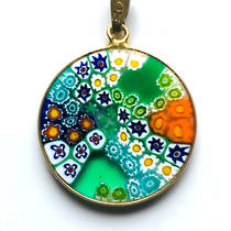 Murano Glass Pendant Millefiori 23mm 11