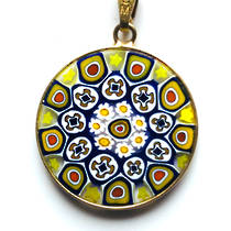 Murano Glass Pendant Millefiori 23mm 8