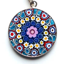 Murano Glass Pendant Millefiori 23mm 14