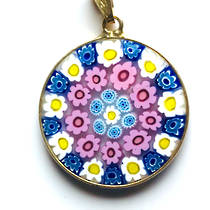 Murano Glass Pendant Millefiori 23mm 13