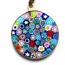 Murano Glass Pendant Millefiori 23mm Multi